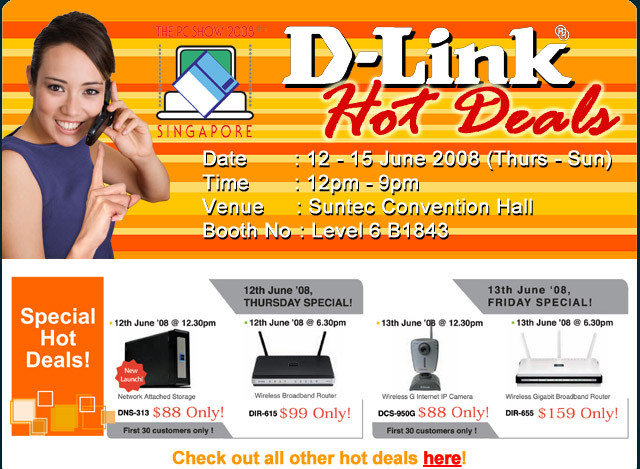 PC Show 2008 price list image brochure of Dlink 3