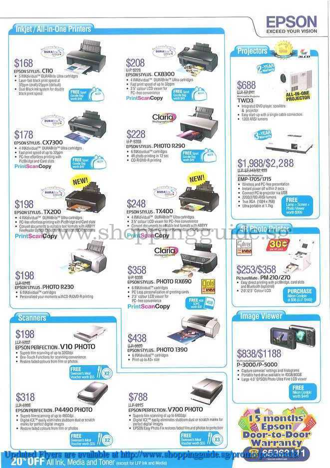 PC Show 2008 price list image brochure of Epson ShoppingGuide.SG-PcShow08-137