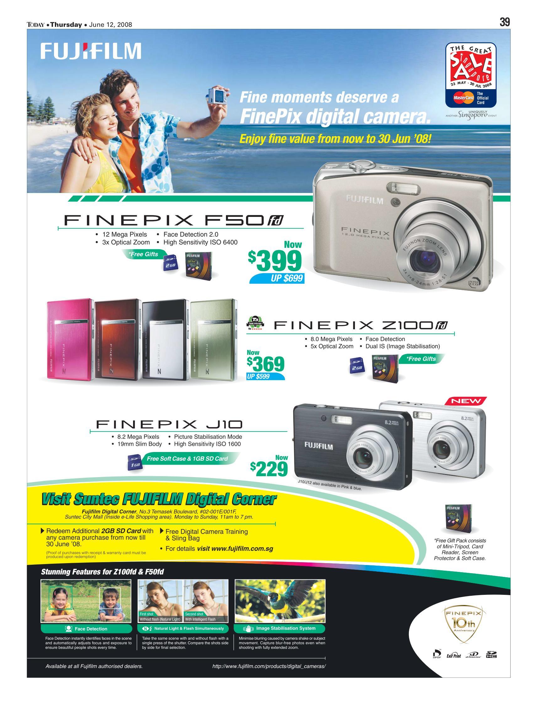 PC Show 2008 price list image brochure of Fujifilm Finepix Cameras