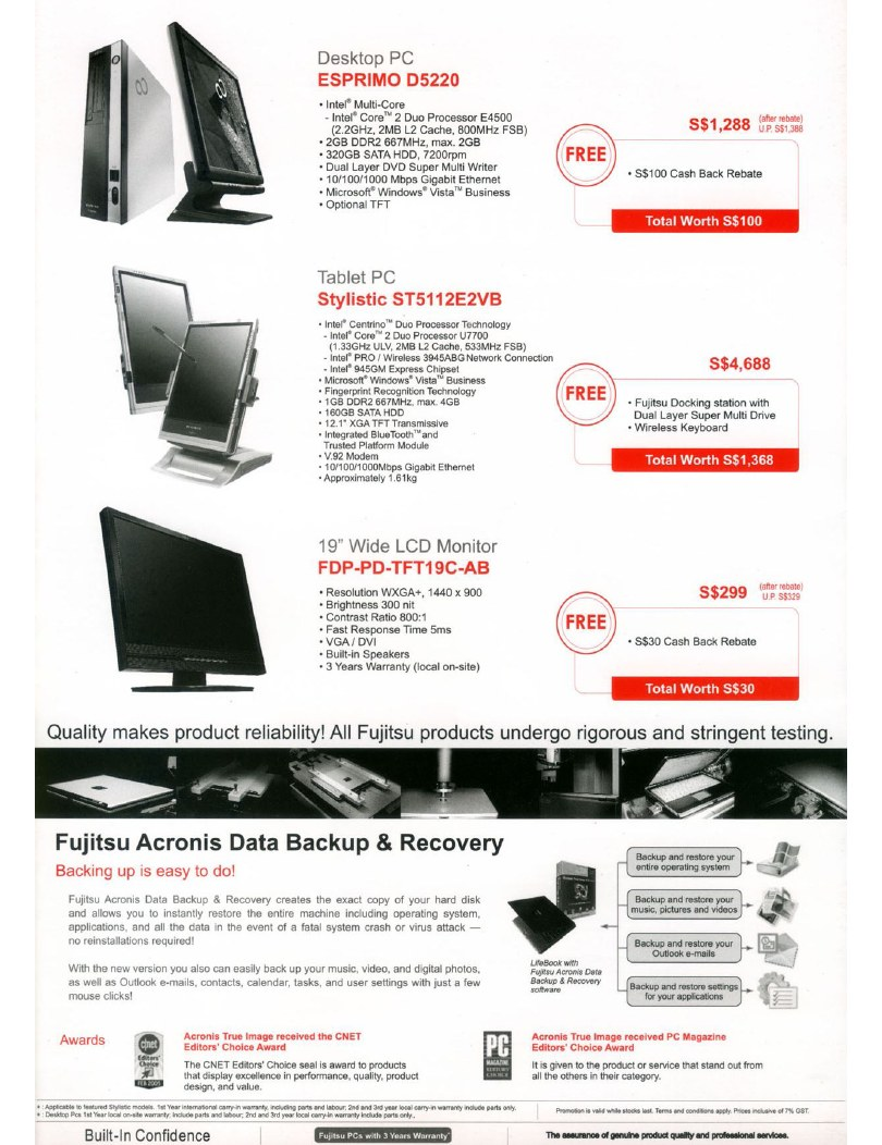PC Show 2008 price list image brochure of Fujitsu 4