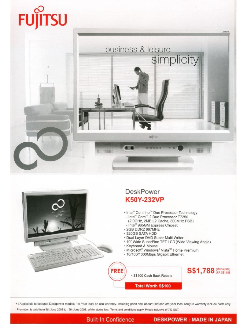 PC Show 2008 price list image brochure of Fujitsu Deskpower 3
