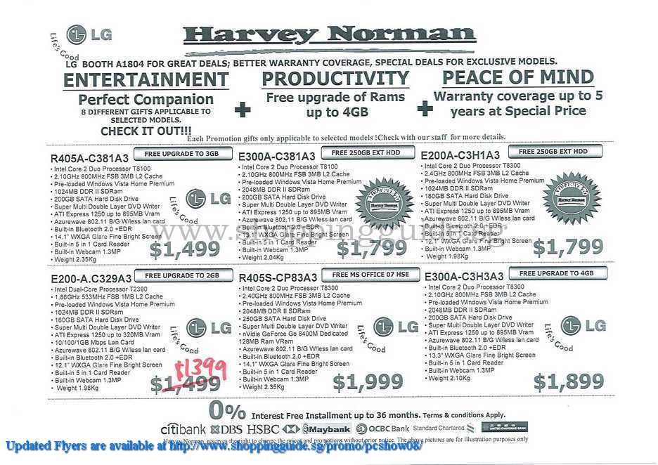 PC Show 2008 price list image brochure of Harvey Norman ShoppingGuide.SG-PcShow08-072