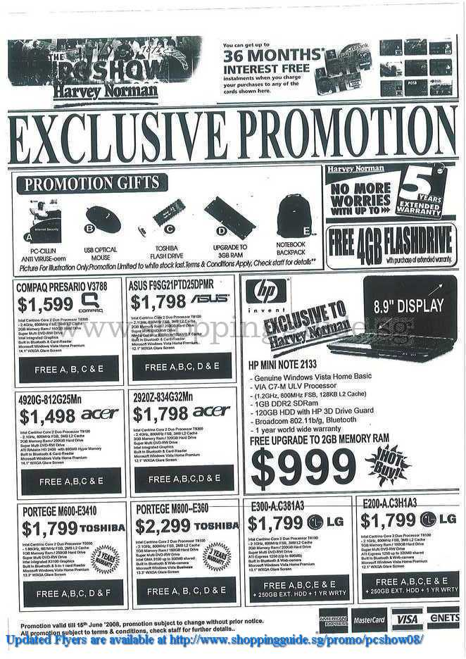 PC Show 2008 price list image brochure of Harvey Norman ShoppingGuide.SG-PcShow08-101