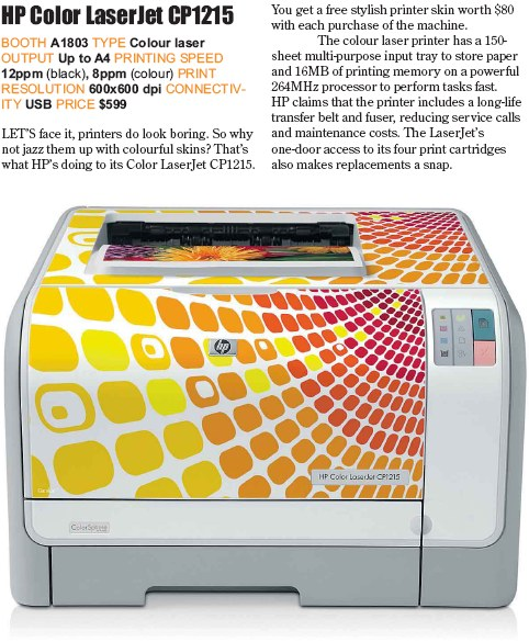 PC Show 2008 price list image brochure of Hp Color Laserjet Cp1215