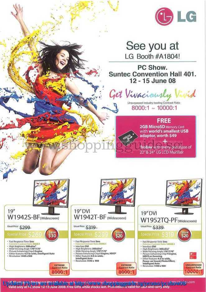 PC Show 2008 price list image brochure of Lg ShoppingGuide.SG-PcShow08-167