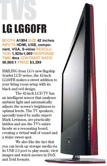PC Show 2008 price list image brochure of Lg Lg60fr Lcd Tv