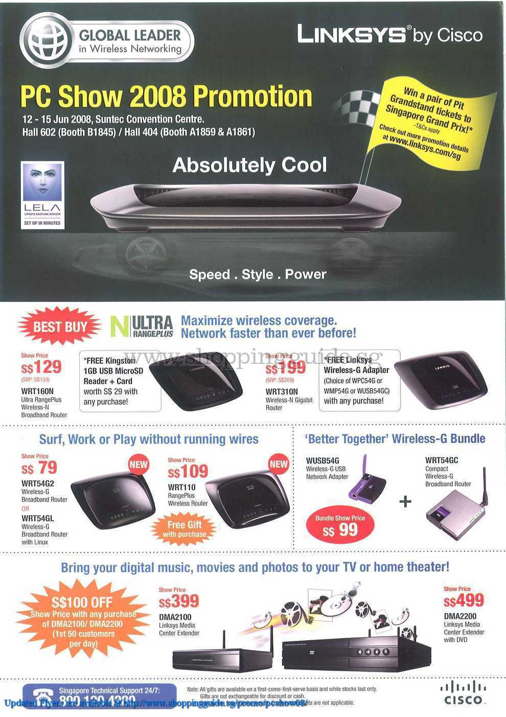 PC Show 2008 price list image brochure of Linksys ShoppingGuide.SG-PcShow08-016