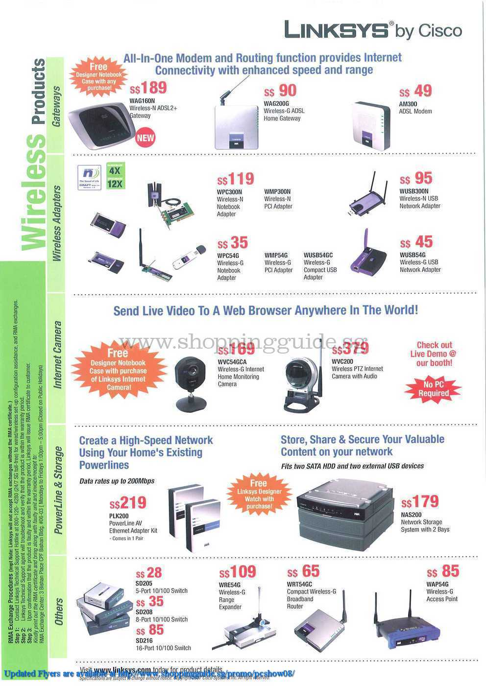 PC Show 2008 price list image brochure of Linksys ShoppingGuide.SG-PcShow08-017