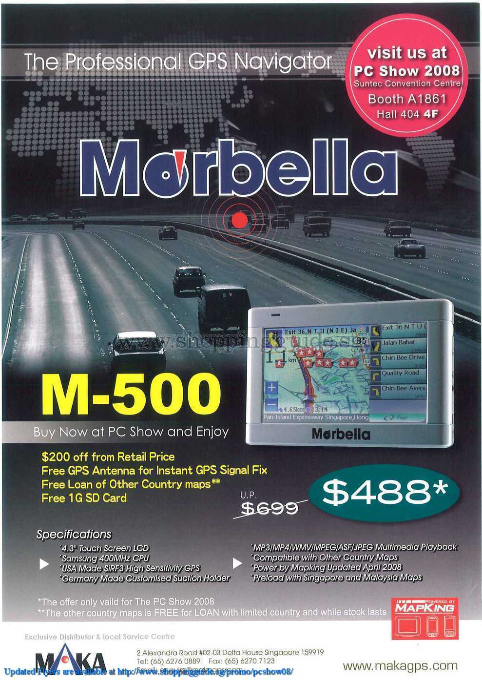 PC Show 2008 price list image brochure of Maka Morbella ShoppingGuide.SG-PcShow08-015