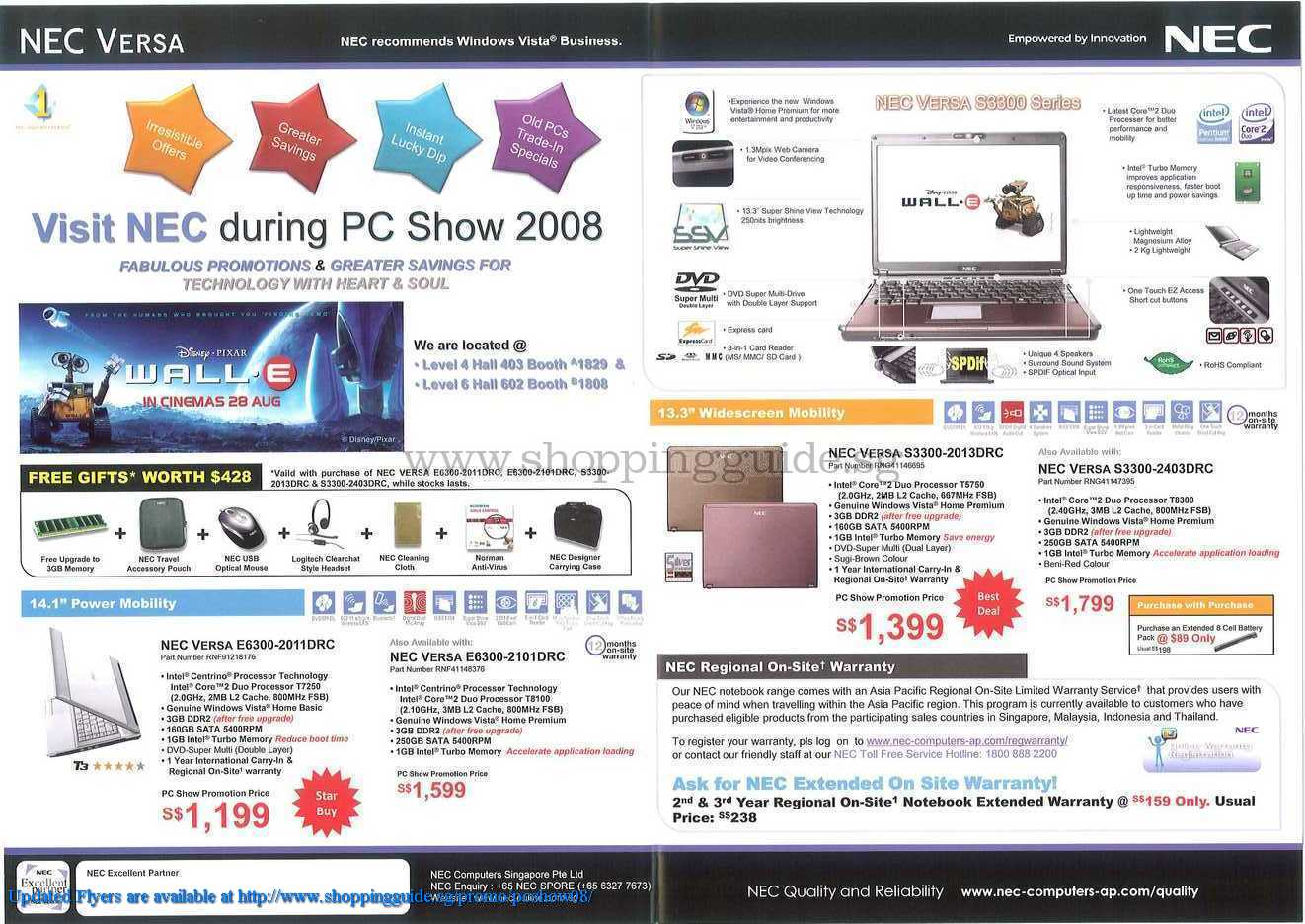 PC Show 2008 price list image brochure of Nec Notebooks ShoppingGuide.SG-PcShow08-078