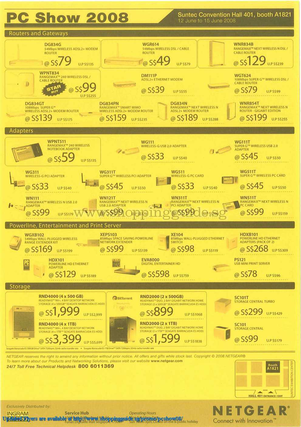 PC Show 2008 price list image brochure of Netgear ShoppingGuide.SG-PcShow08-020