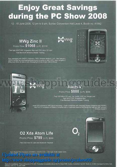 PC Show 2008 price list image brochure of O2 Xda ShoppingGuide.SG-PcShow08-173