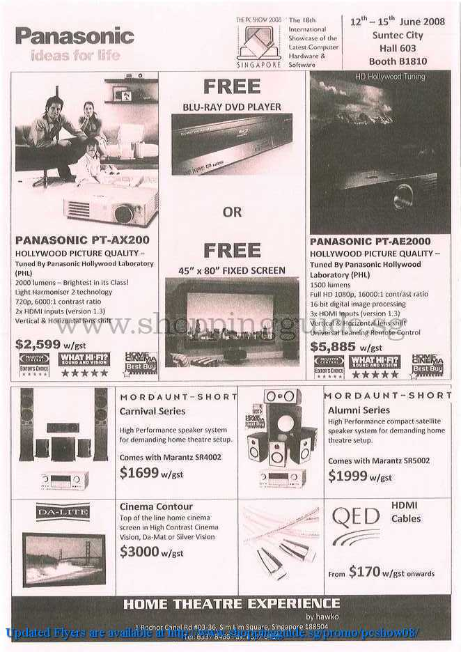 PC Show 2008 price list image brochure of Panasonic ShoppingGuide.SG-PcShow08-180