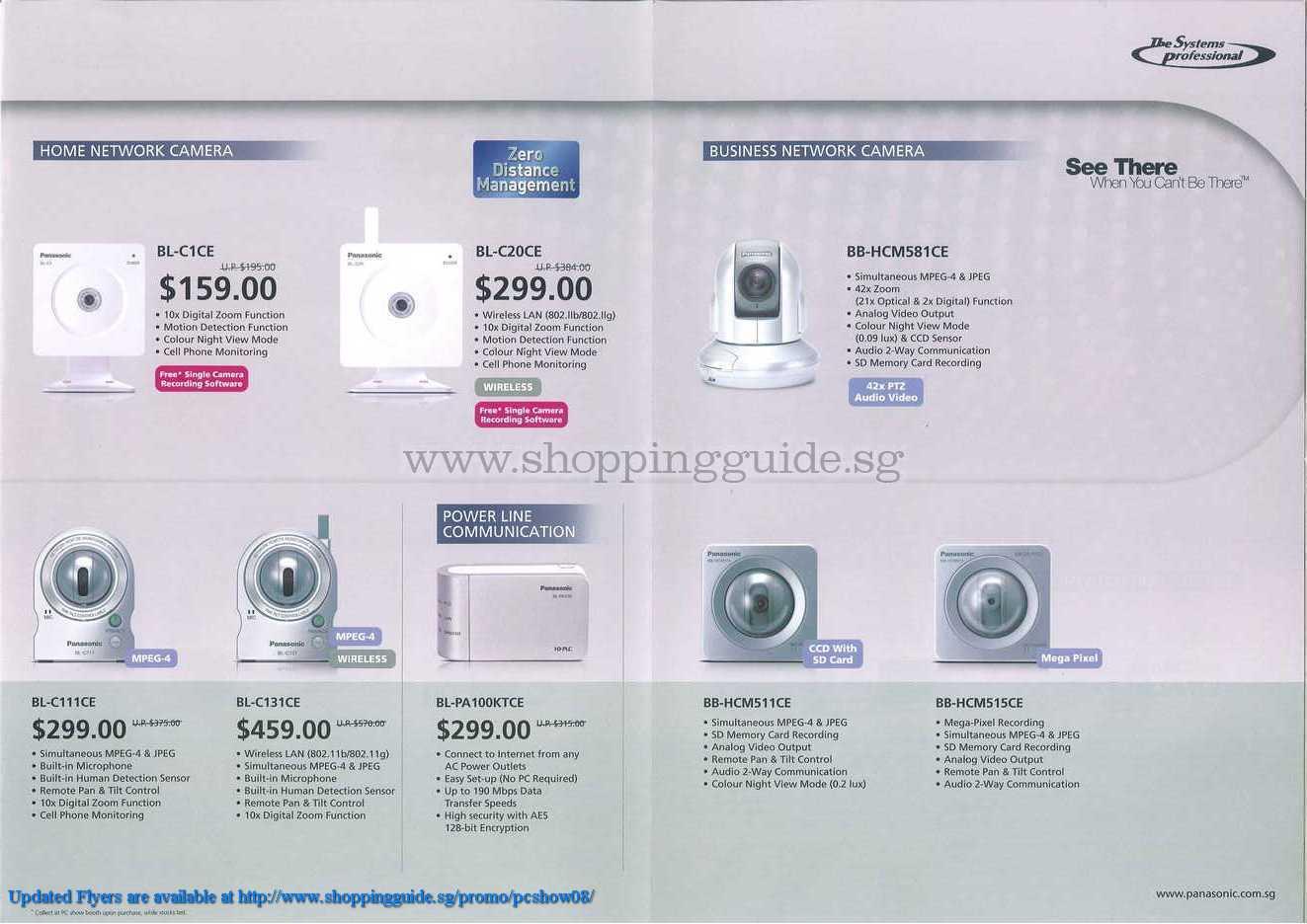 PC Show 2008 price list image brochure of Panasonic Camera Powerline ShoppingGuide.SG-PcShow08-100