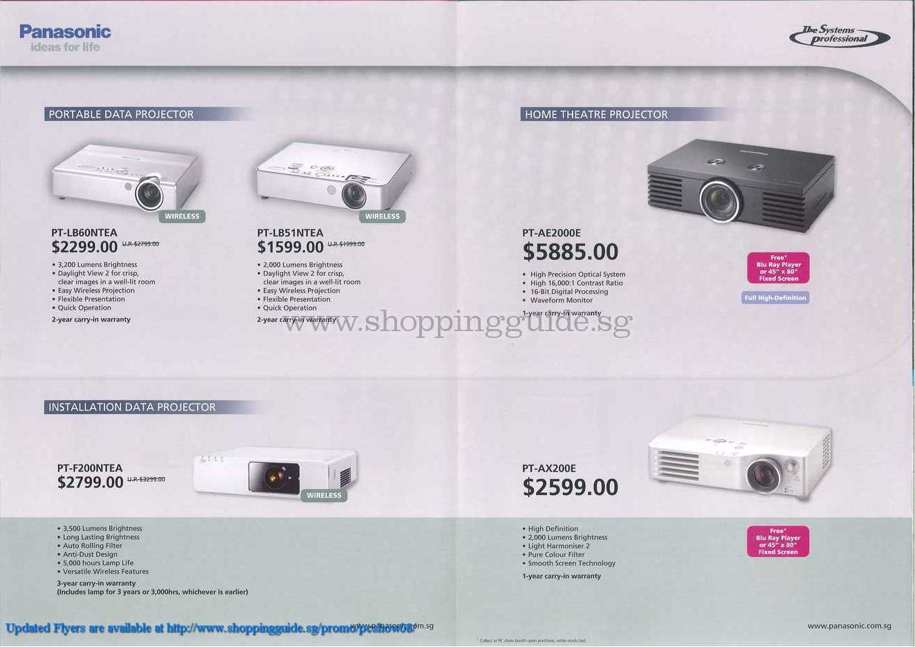 PC Show 2008 price list image brochure of Panasonic Projectors ShoppingGuide.SG-PcShow08-098