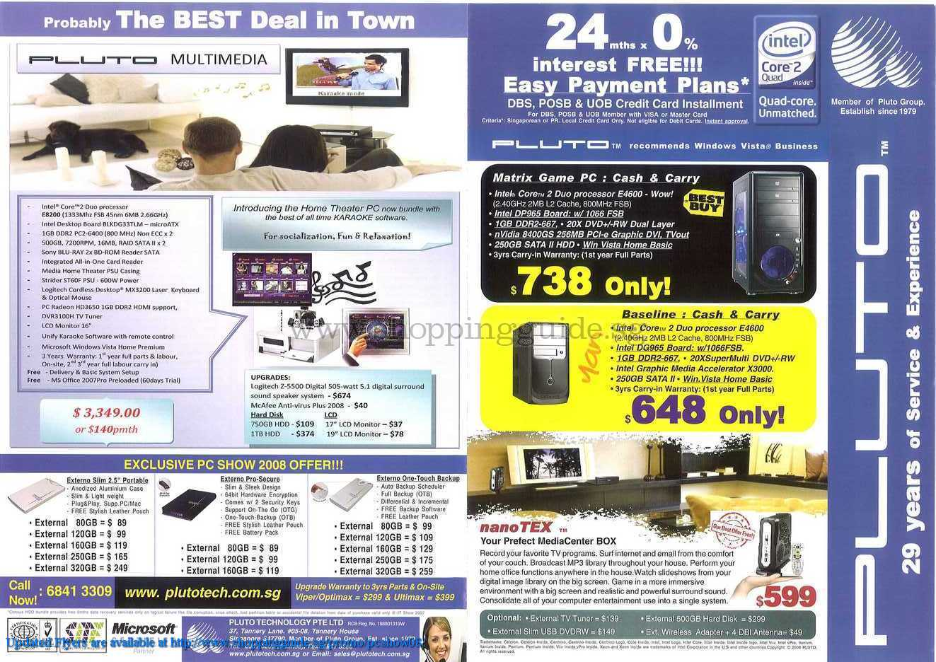 PC Show 2008 price list image brochure of Pluto ShoppingGuide.SG-PcShow08-073