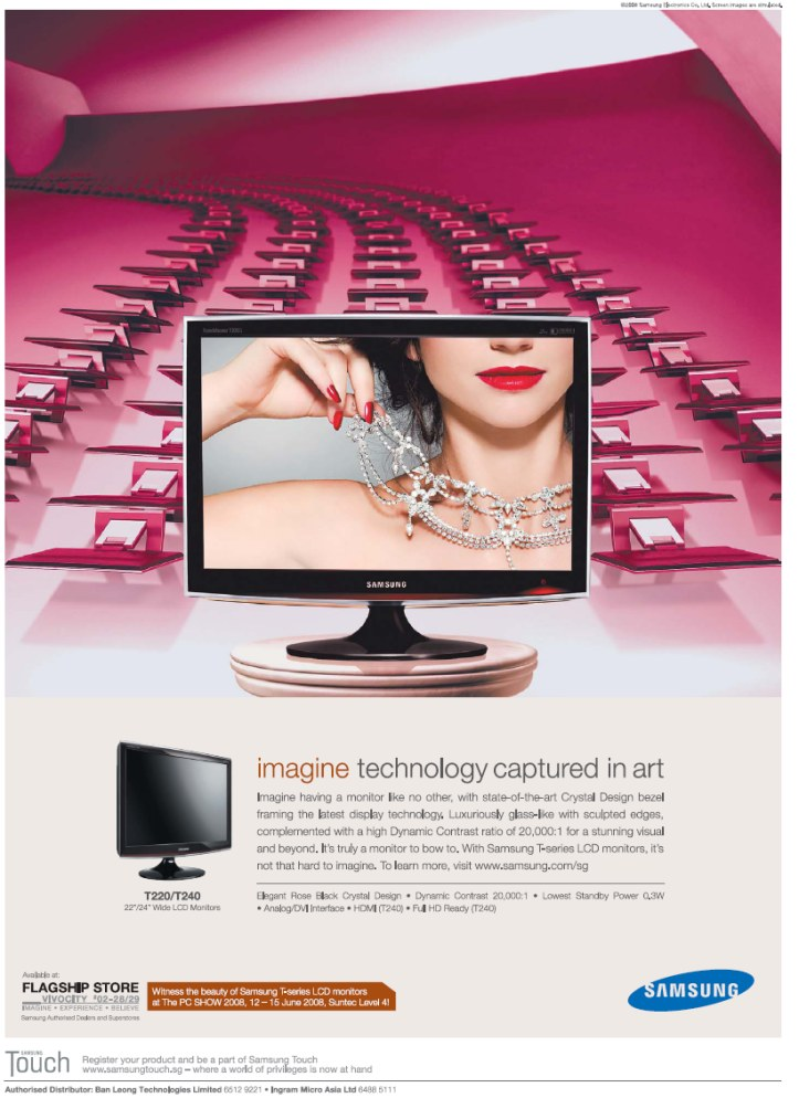 PC Show 2008 price list image brochure of Samsung Lcd Monitors