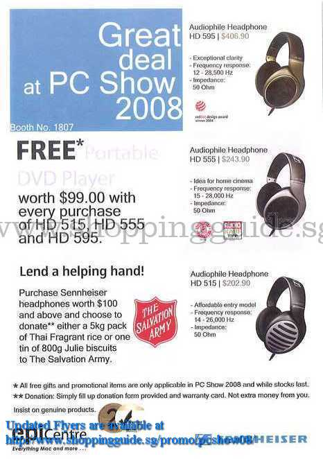 PC Show 2008 price list image brochure of Sennheiser ShoppingGuide.SG-PcShow08-056