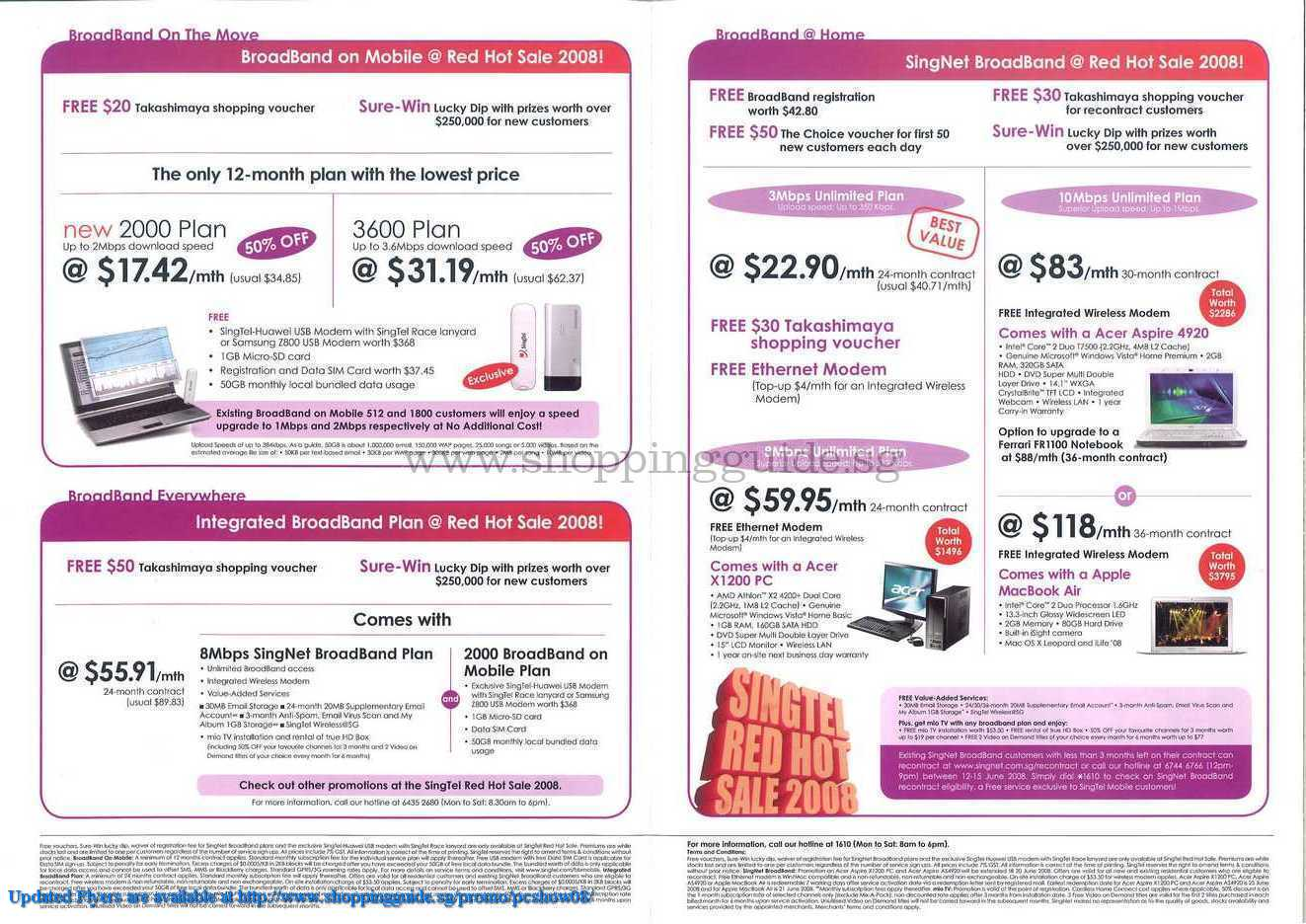 PC Show 2008 price list image brochure of Singnet ShoppingGuide.SG-PcShow08-121
