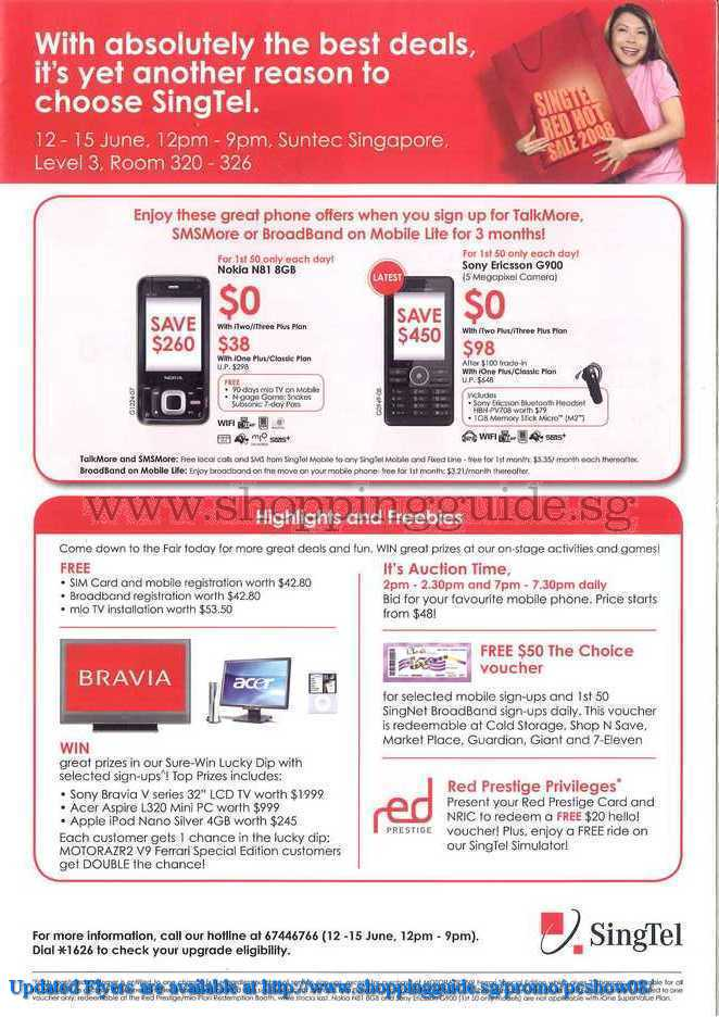 PC Show 2008 price list image brochure of Singtel ShoppingGuide.SG-PcShow08-118