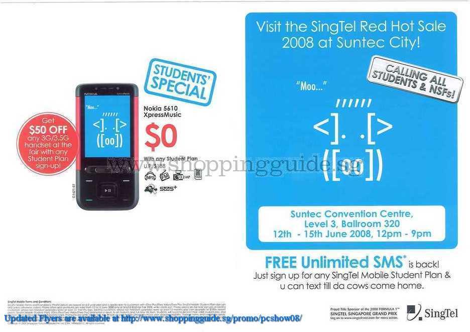 PC Show 2008 price list image brochure of Singtel ShoppingGuide.SG-PcShow08-150