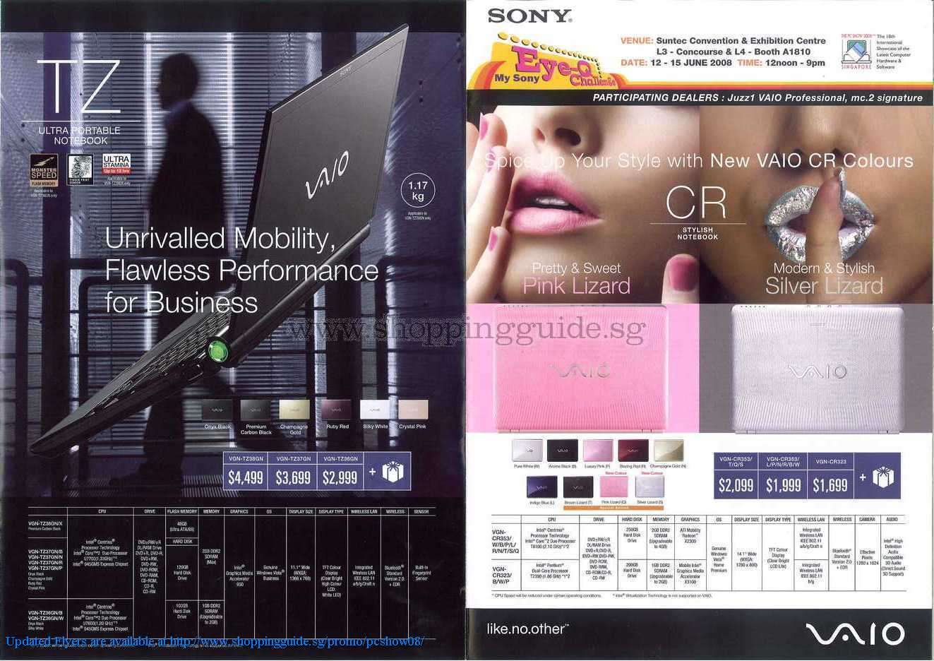 PC Show 2008 price list image brochure of Sony Vaio ShoppingGuide.SG-PcShow08-106