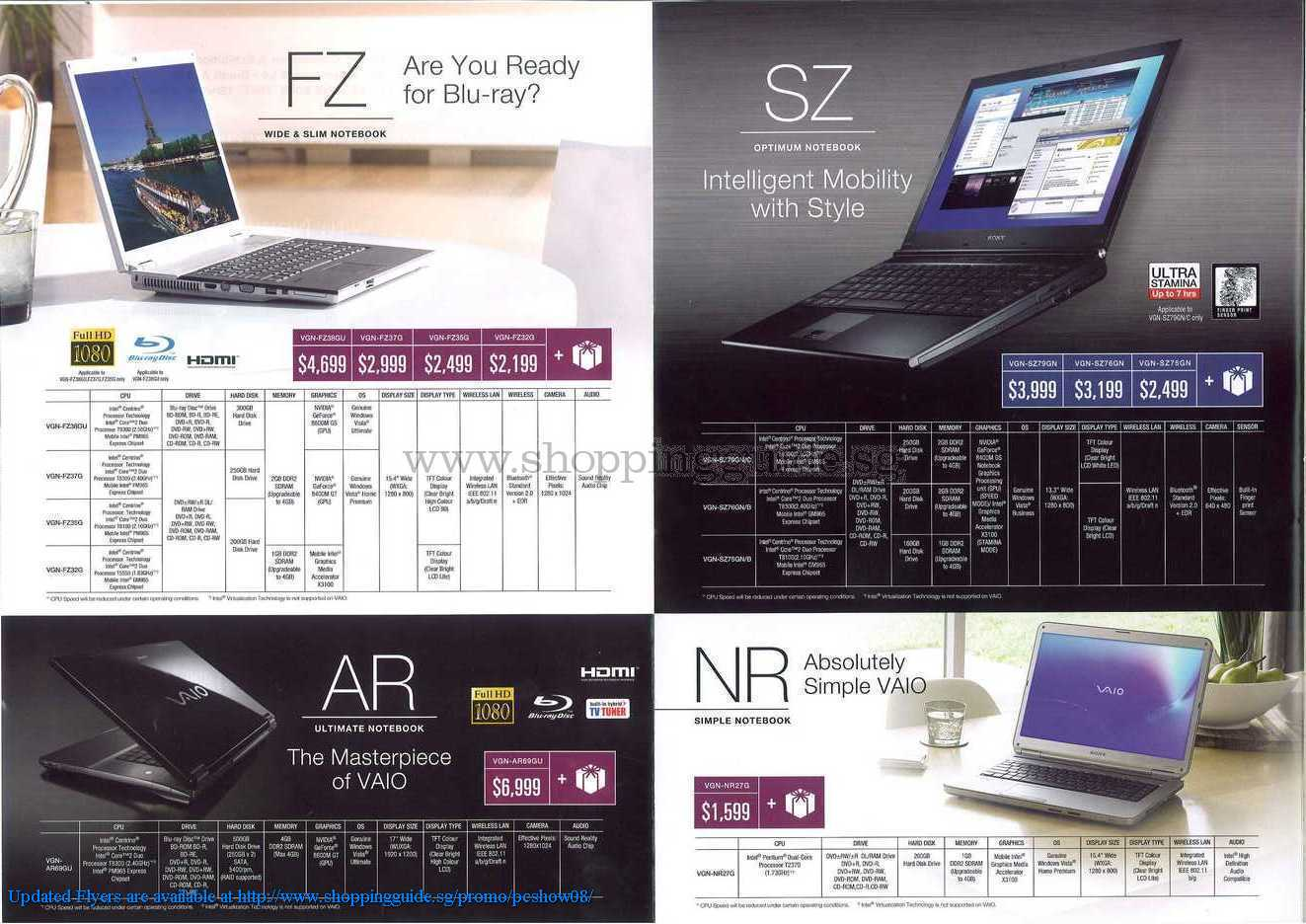 PC Show 2008 price list image brochure of Sony Vaio ShoppingGuide.SG-PcShow08-108
