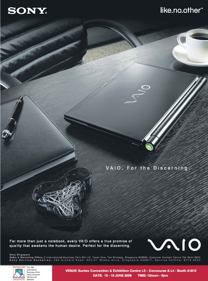 PC Show 2008 price list image brochure of Sony Vaio Ad