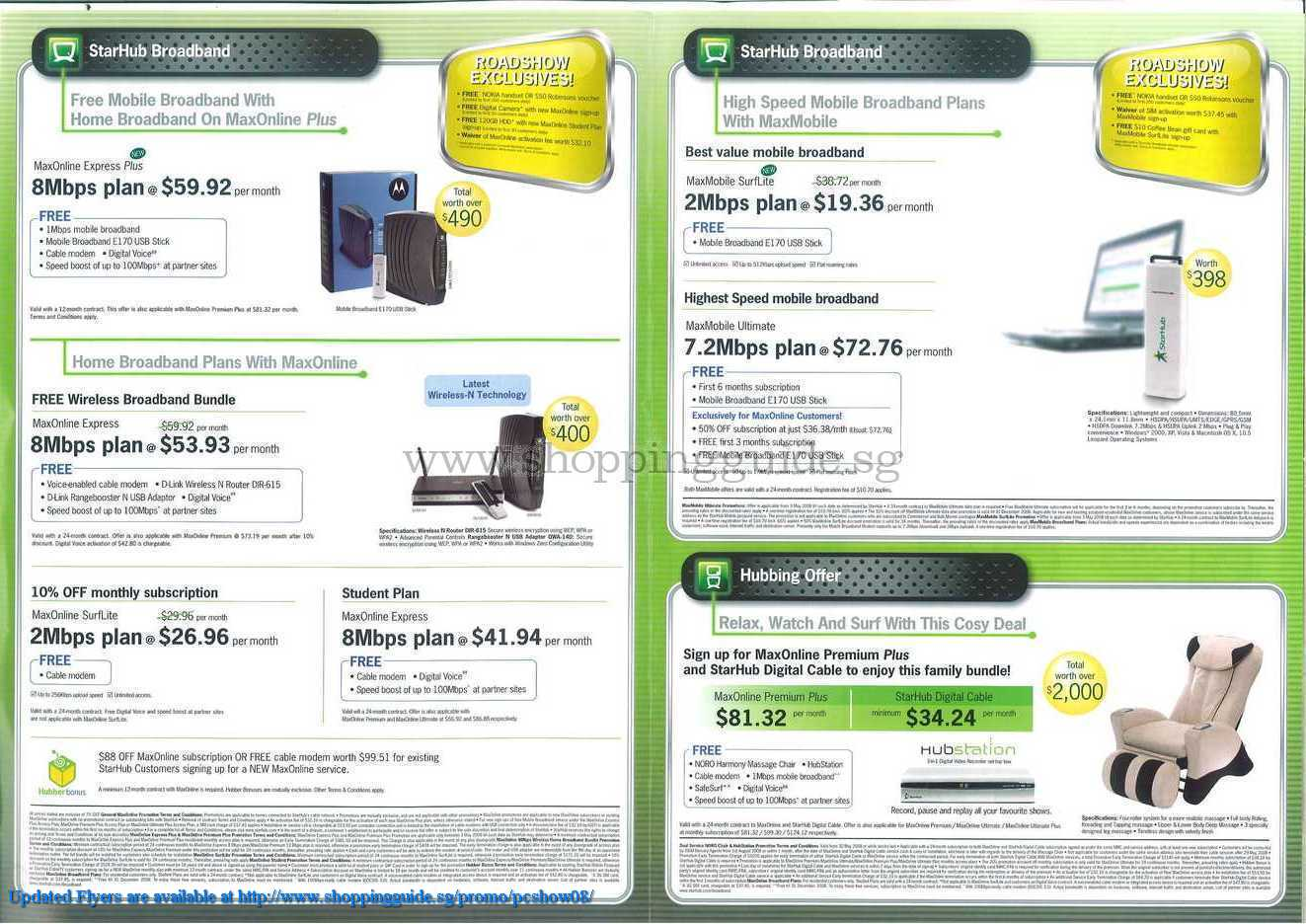 PC Show 2008 price list image brochure of Starhub ShoppingGuide.SG-PcShow08-123