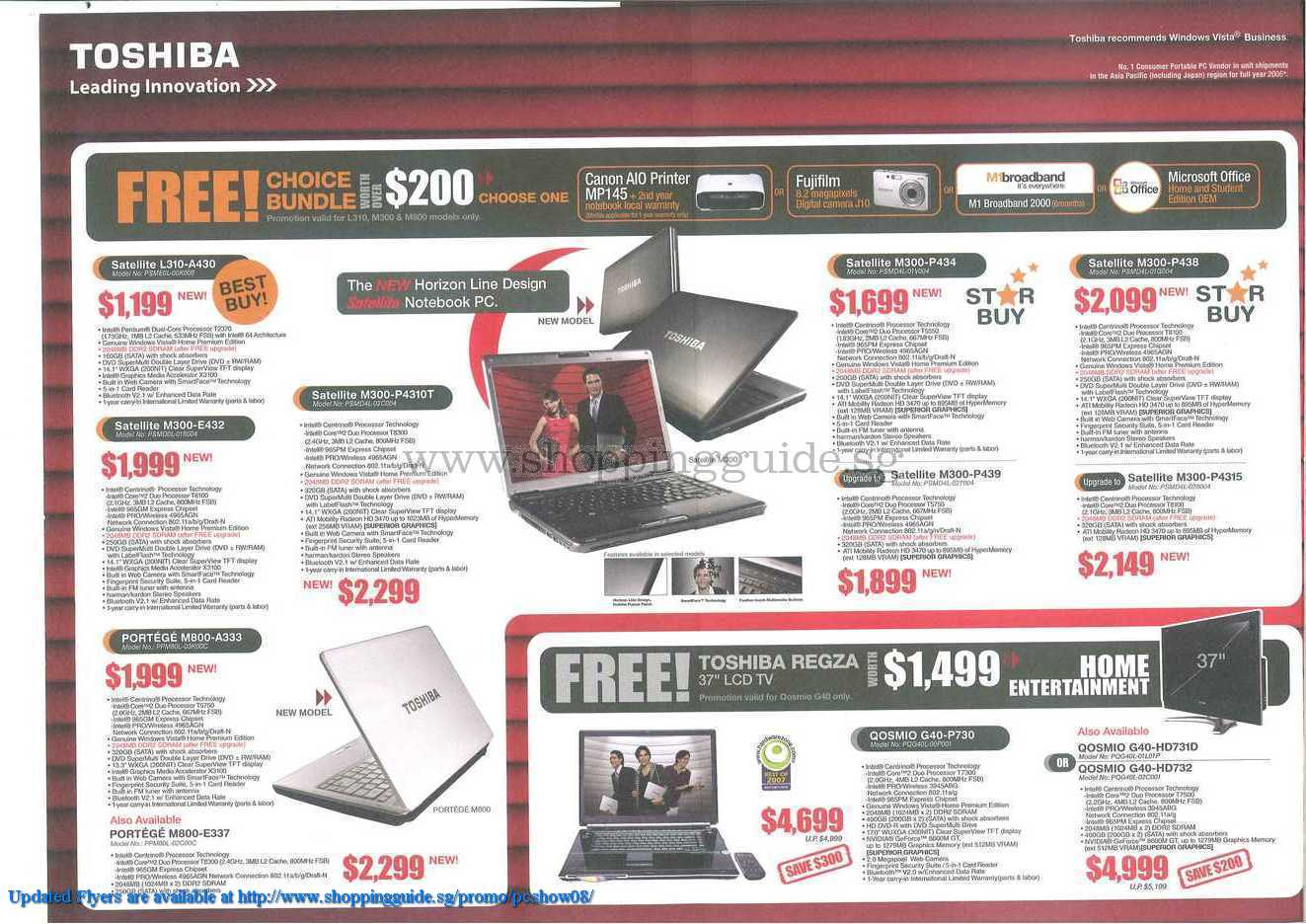 PC Show 2008 price list image brochure of Toshiba ShoppingGuide.SG-PcShow08-115