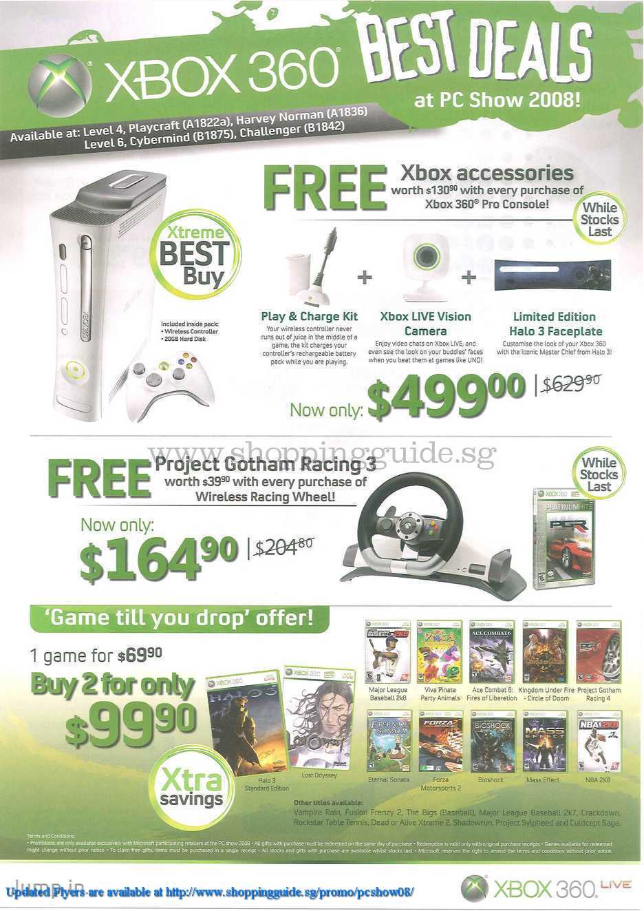 PC Show 2008 price list image brochure of Xbox 360 ShoppingGuide.SG-PcShow08-063