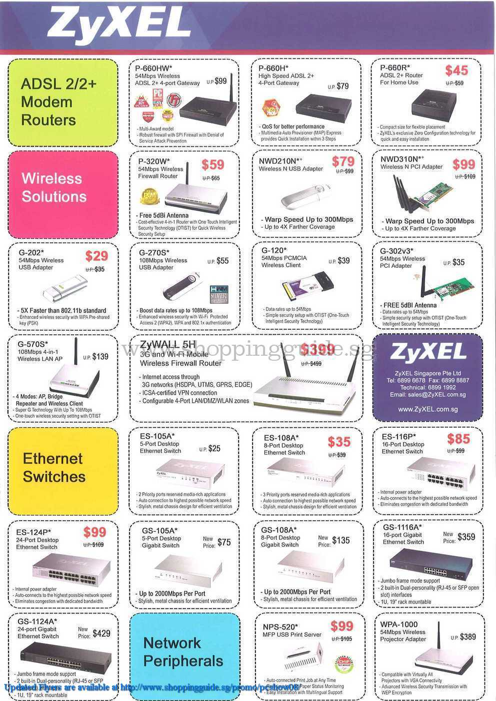 PC Show 2008 price list image brochure of Zyxel ShoppingGuide.SG-PcShow08-006