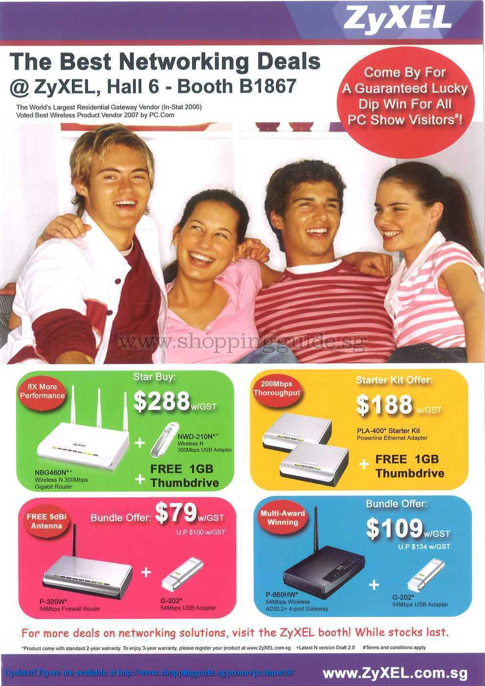 PC Show 2008 price list image brochure of Zyxel ShoppingGuide.SG-PcShow08-007