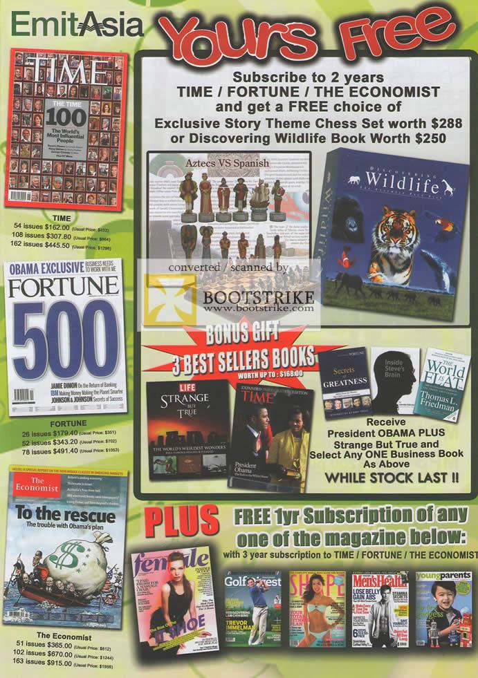 emitasia magazine subscription 1 pc show 2009 price list brochure flyer image. Black Bedroom Furniture Sets. Home Design Ideas