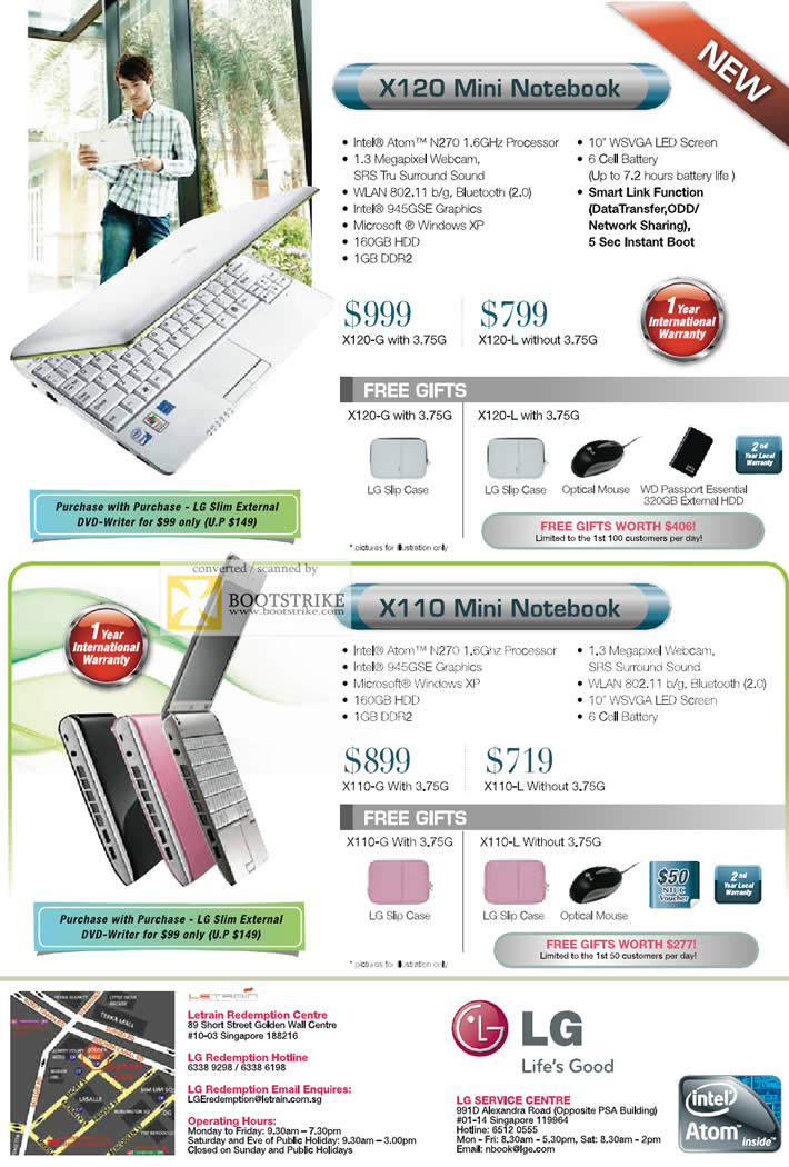 PC Show 2009 price list image brochure of LG Mini Notebook X120 X110