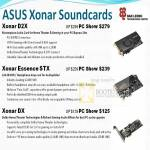Sound Cards Xonar D2X Essence STX DX