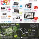 AVLabs Digital Multimedia Photo Frame EGear Solar Battery