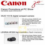 Canon Ixus 110 IS Legria HF200 Promotion