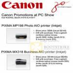 Pixma Photo MP198 BusinessMX318 AIO Inkjet Printer Promotion