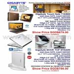 Gigabyte Touch Note T1028M Book Top Docking Station M1022M