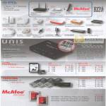 PCI Network Wireless Bluetooth Enclosure Unis Pendrive McAfee