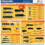 Prolink Wireless Accesssories Optical ADSL Switches Ethernet Gigabit