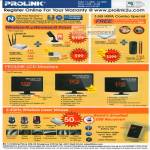 Prolink Wireless HSPA LCD Monitors Laser Mouse