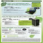 Home Broadband HP Pavilion Dv2 Notebook PC Media Hub