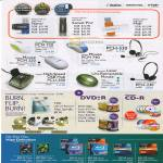 TDK Imation Memorex Flash Drive Nano Swivel Pro Mouse Hub Headset DVD-R Discs