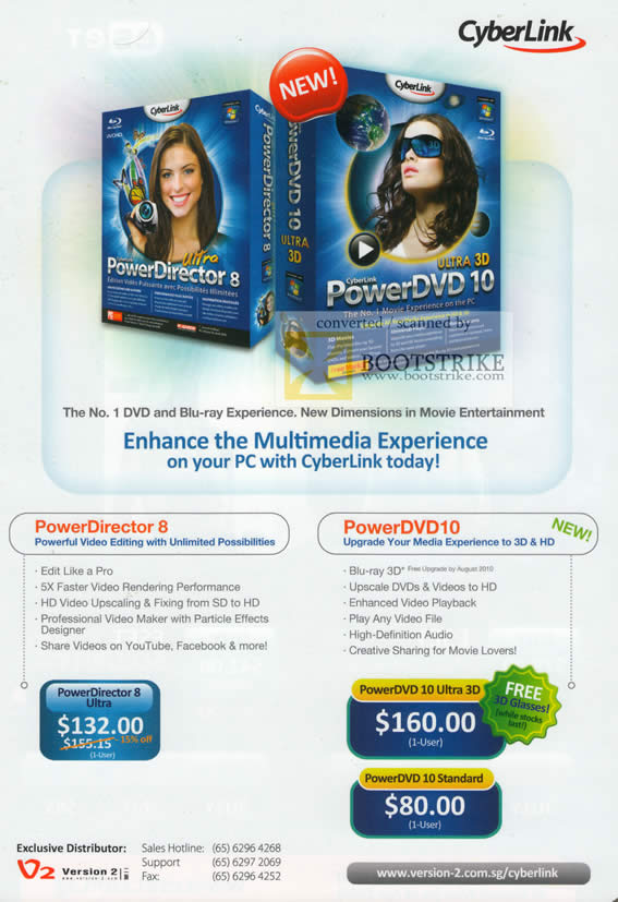 PC Show 2010 price list image brochure of Asia Radio Cyberlink PowerDirector 8 Ultra PowerDVD 10