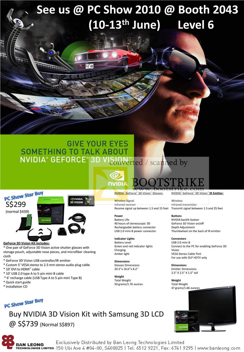 PC Show 2010 price list image brochure of Ban Leong GeForce 3D Vision Samsung 3D LCD