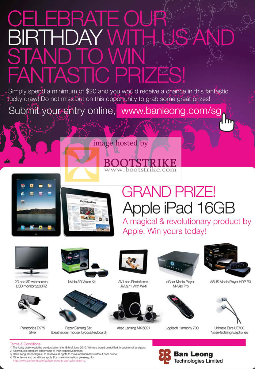 PC Show 2010 price list image brochure of Ban Leong Lucky Draw