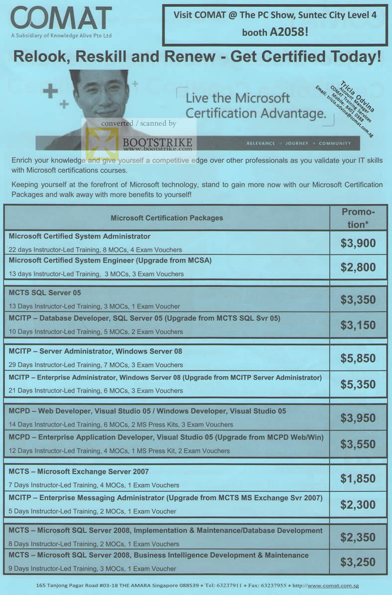 Comat microsoft certification courses mcsa mcts mcpd mcts pc show pc show 2010 price list image brochure of comat microsoft certification courses mcsa mcts mcpd mcts xflitez Choice Image