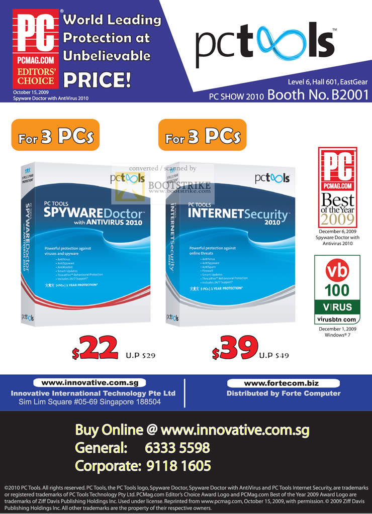 PC Show 2010 price list image brochure of Innovative PC Tools Spyware Doctor Antivirus 2010 Internet Security